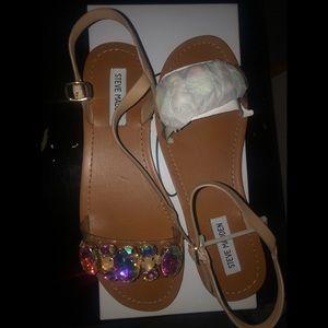 Steve Madden Rhythm Jeweled Sandal Sz 9 NIB
